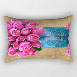 BALL MASON JAR AND ROSES Rectangular Pillow