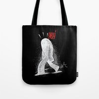 yeti Tote Bags featuring Yeti by Srg44