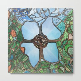 Four Season Tree  Metal Print