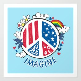 Imagine Love Imagine Peace Art Print