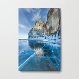 Blue Ice of the Lake Baikal Metal Print