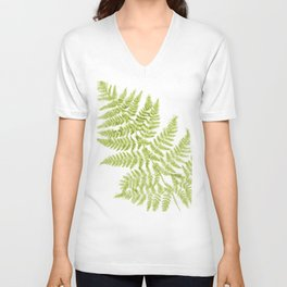 Fresh Fern Modern Botanical Unisex V-Neck