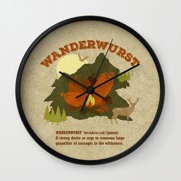 WanderWurst Wall Clock