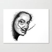 dali Canvas Prints featuring Dali by Robin Ewers