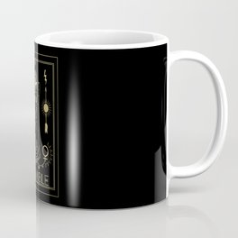 Le Diable or The Devil Tarot Gold Coffee Mug