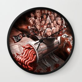 The Meat Grinder Wall Clock