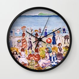 Maurice Brazil Prendergast - Revere Beach No.2 - Digital Remastered Edition Wall Clock