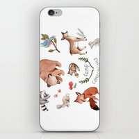 camp iPhone & iPod Skins featuring Camp Companions by Brooke Weeber