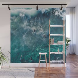 Surfing in the Ocean 2 Wall Mural