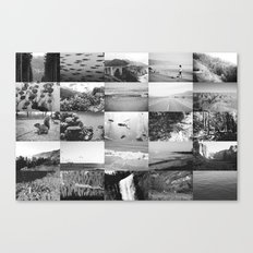 black and white world Canvas Print
