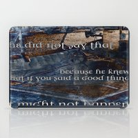 hemingway iPad Cases featuring Ernest Hemingway by Ginevra