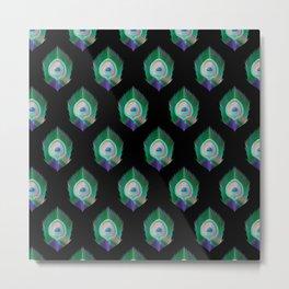 Peacock Pattern_E02 Metal Print
