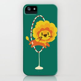 Lion hopped through a loop iPhone Case
