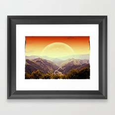 Highland Sunset  Framed Art Print