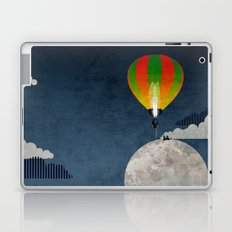 Picnic in a Balloon on the Moon Laptop & iPad Skin