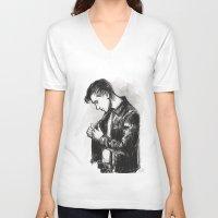 alex turner V-neck T-shirts featuring alex turner [5] by roanne Q