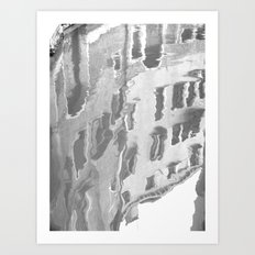 Black and white Venetian canal reflection Art Print