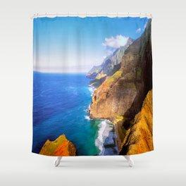 North Na Pali Coast Shower Curtain