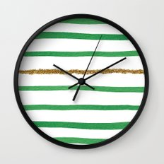 Sparkle Stripe II Wall Clock