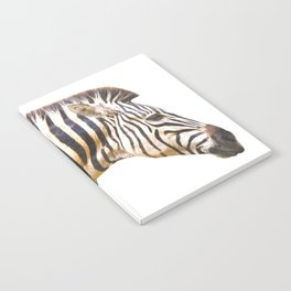 Zebra portrait Notebook