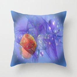 Fish world Throw Pillow