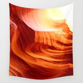 Bright Antelope Canyon Colors Wall Tapestry