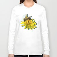 novelty Long Sleeve T-shirts featuring Bees by Moody Muse