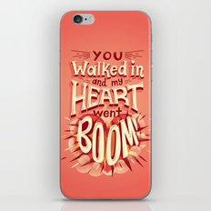 Heart went boom iPhone & iPod Skin