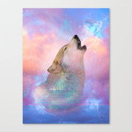 Dream By Day (Wolf Dreams - Remix Series) Canvas Print