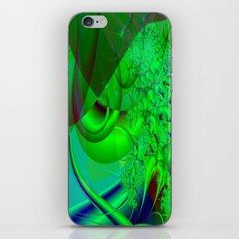 Abstract Green Algae iPhone Skin