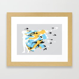I'm like a bird Framed Art Print