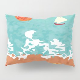 Sunset at the beach Pillow Sham