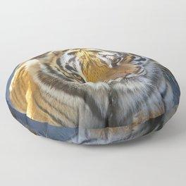 Tiger Face Floor Pillow