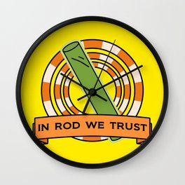 The Simpsons: In rod we trust Wall Clock