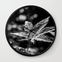 After the rain - black and white Wall Clock