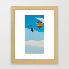 Four Hot Air Balloons Framed Art Print