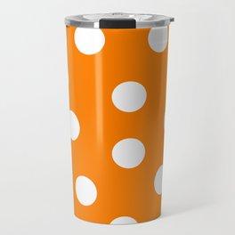 Polka Dots - Amber and White Travel Mug