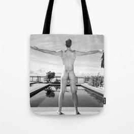 Freedom Man Nude Tote Bag