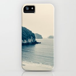 Gloomy Dawn on the Coast. Ha Long Bay, Vietnam. Landscape Photography. iPhone Case