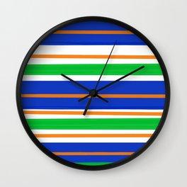 Collegiate Gator Stripes Wall Clock