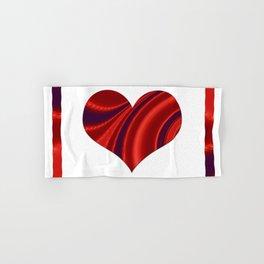 Fractal Big Heart Hand & Bath Towel