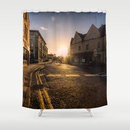On my way sunset Shower Curtain