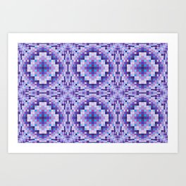 Purple and Blue Bumps Art Print