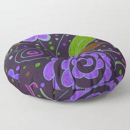 Flower Collage in Purple by Tinker Creek Designs Floor Pillow
