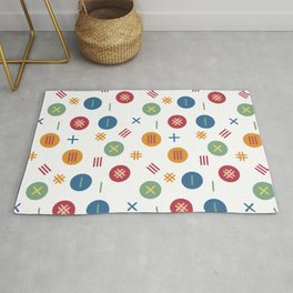 Dots and stripes pattern Rug