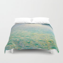 Island in the Attersee Gustav by Klimt Date 1902 // Abstract Oil Painting Water Horizon Scene Duvet Cover