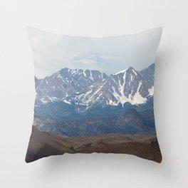 There In The Mountains (Sierra Nevadas, California) Throw Pillow