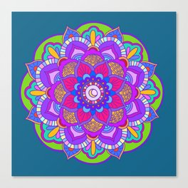 Colourful mandala Canvas Print