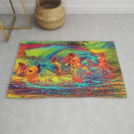 AnimalColor_Hippo_003_by_JAMColors Rug