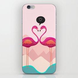 Flamingos iPhone Skin